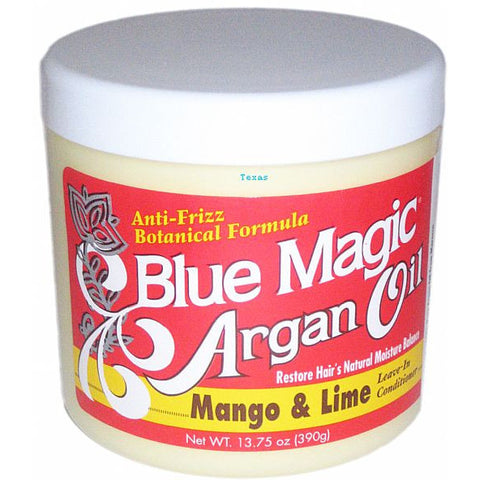 Blue Magic ARGAN OIL Mango and Lime Leave In Conditioner - 13.75oz jar (NO CA)