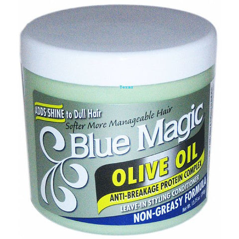Blue Magic OLIVE OIL Leave In Styling Conditioner - 13.75oz jar (NO CA)