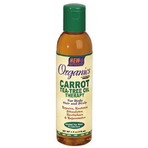 Africa Best ORGANICS CARROT Tea Tree Oil Therapy - 6oz bottle