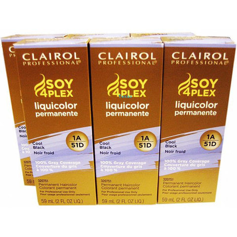 Clairol Soy 4Plex Liquicolor Permanente - Six Pack of 2oz bottle