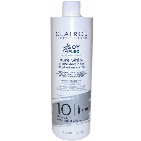 Clairol Soy 4 Plex Pure White Creme Developer - 16oz bottle