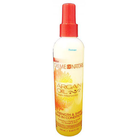Creme of Nature ARGAN OIL Strength & Shine Leave In Conditioner - 8.45oz spray