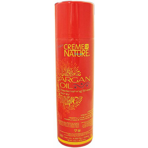 Creme of Nature Argan Oil Replenishing Sheen Spray - 11.25oz aerosal #24439