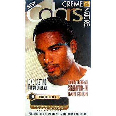 Creme of Nature COLORS permanent hair color for MEN kit ...