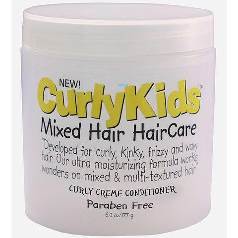 Curly Kids Mixed Hair HairCare Curly Creme Conditioner - 6oz jar