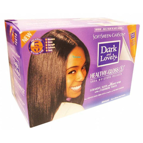 Dark & Lovely Healthy Gloss 5 Shea Moisture Relaxer Kit
