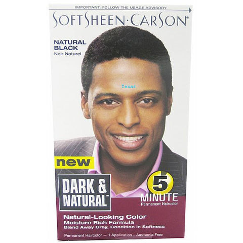 Dark & Natural Hair Color for Men - 3 PACK