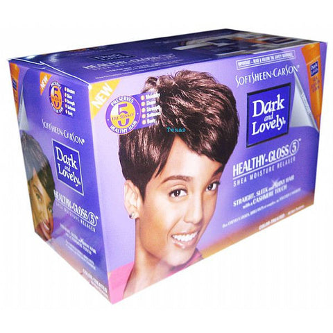Dark and Lovely Healthy Gloss 5 Relaxer for Color-Treated Hair Kit