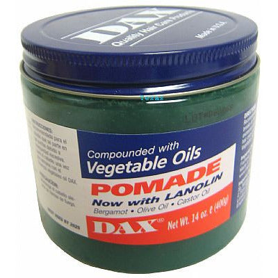 Dax POMADE with Lanolin compounded with VEGETABLE OILS - 14oz jar
