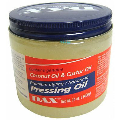 Dax PRESSING OIL with Coconut Oil & Castor Oil - 7.5oz jar