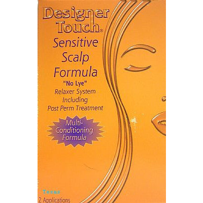 Designer Touch SENSITIVE SCALP FORMULA No Lye Relaxer kit - 2 Applications