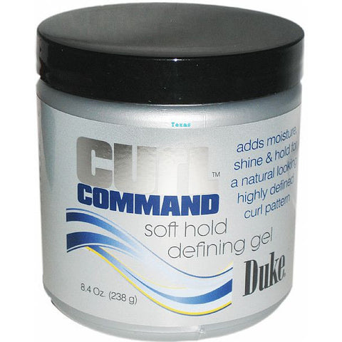 Duke Curl Command Soft Hold Defining Gel - 8.4oz jar