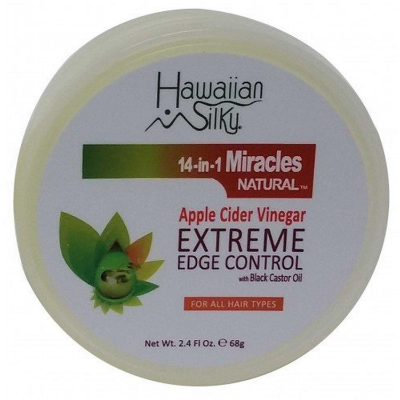 Hawaiian Silky 14 In 1 Miracles Natural Apple Cider Vinegar Extreme Edge Control -2.4oz