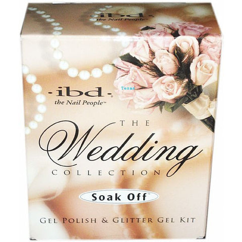 IBD Soak Off The Wedding Collection Gel Polish and Glitter Gel Kit - #56333