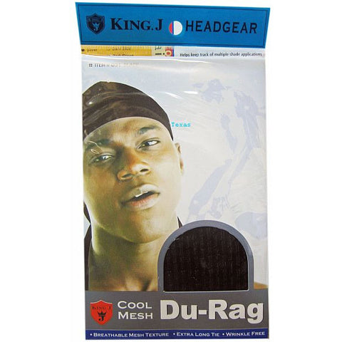 King J HeadGear  Cool Mesh DURAG - Black  #031