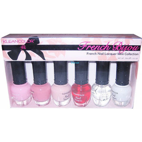 Kleancolor French Nail Lacquer 6 piece - Kit