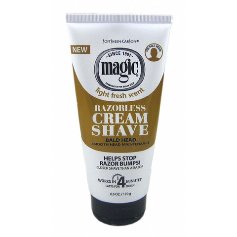 Magic Cream SMOOTH Razorless Hair-Removing Creme - 6oz brown tube