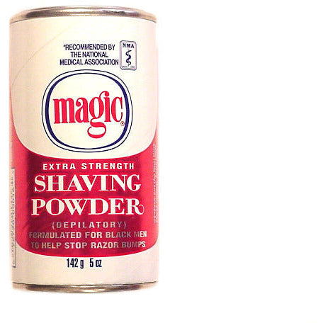 Magic Shave EXTRA STRENGTH Shaving Powder - 5oz Red/White Can