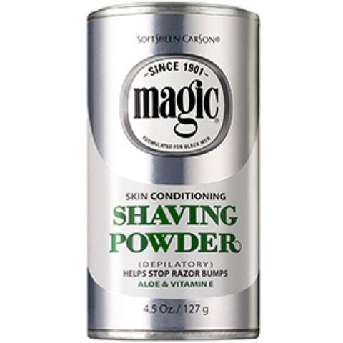 Magic Shave SKIN CONDITIONING Shaving Powder - 4.5oz Platinum/Silver can