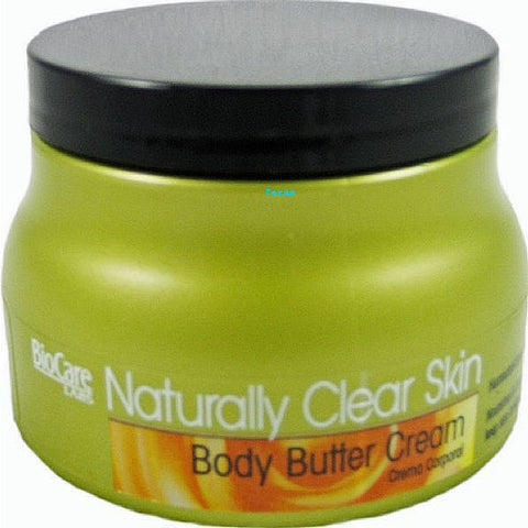 Naturally Clear Skin BODY BUTTER CREAM - 8oz jar