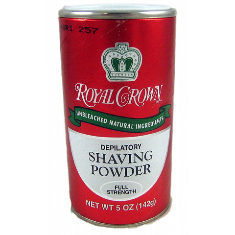 Royal Crown Depilatory Shaving Powder Full Strength - 5oz RED