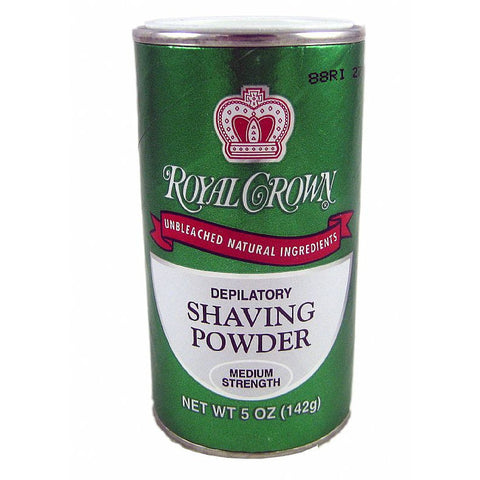 Royal Crown Depilatory Shaving Powder Medium Strength - 5oz GREEN
