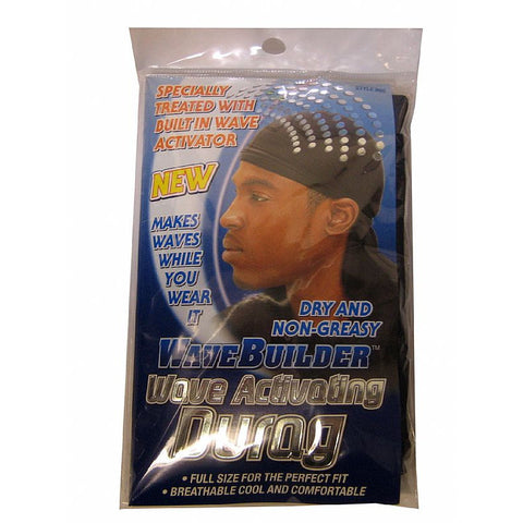 Spartan WaveBuilder Wave Activating Durag - style 992 BLACK