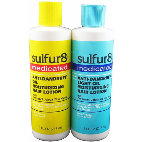 Sulfur8 Anti-Dandruff  Oil Moisturizing Hair Lotion - 8oz bottle (NO CA)