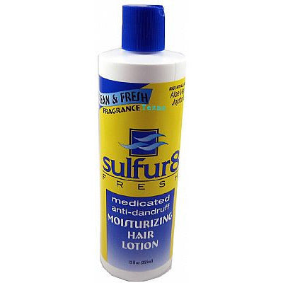 Sulfur8 FRESH medicated anti dandruff HAIR LOTION - 12oz bottle (NO CA)