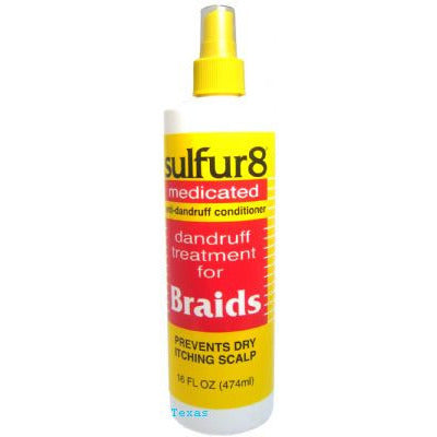 Sulfur8 Medicated Dandruff Treatment For Braids - 8oz spray (NO CA)