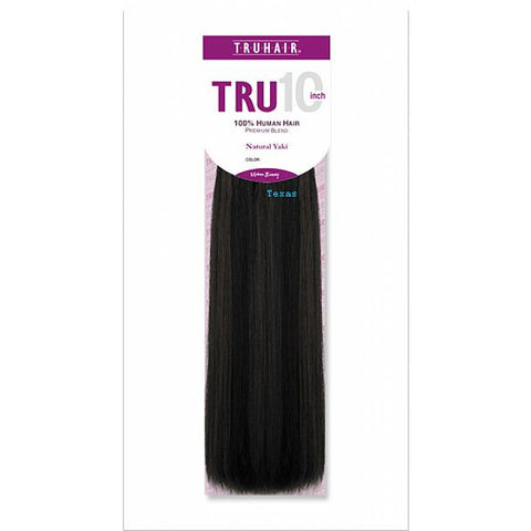 TruHair NATURAL YAKI WEAVING - 100% Premium Human Hair Blend - 10inch