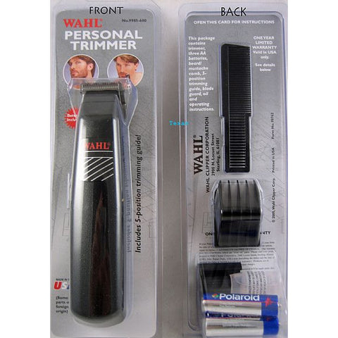 Wahl Personal Trimmer for beard mustaches sideburns and necklines - #9985-600