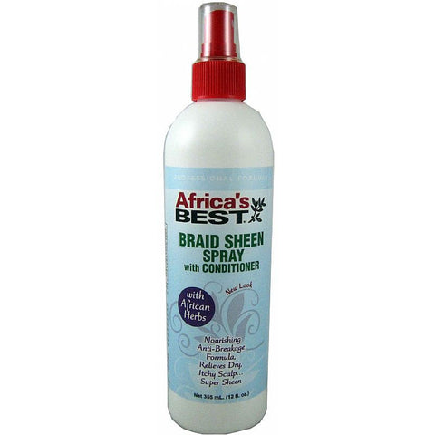 Africa Best Braid Sheen Spray with Conditioner - 12 oz spray