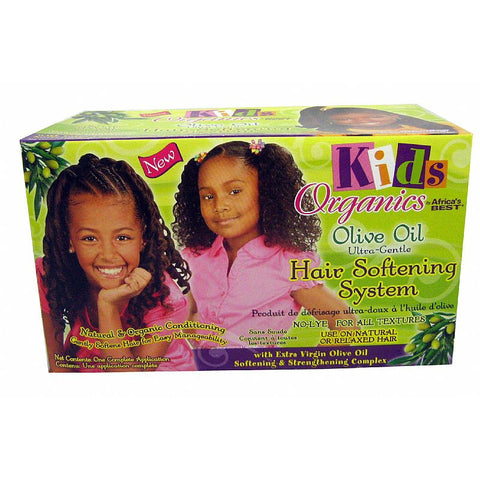 Africa Best Organics Olive Oil Hair Softening System for Kids - Kit