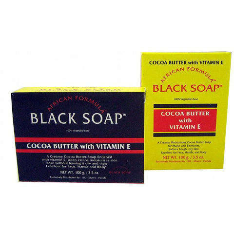 African Formula BLACK SOAP Cocoa Butter with Vitamin E - 3.5oz