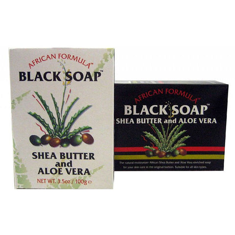 African Formula Black Soap SHEA BUTTER & Aloe Vera - 3.5oz