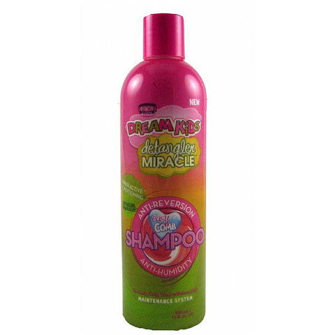 African Pride Dream Kids Detangler Miracle Anti Reversion Anti Humidity Shampoo - 12oz bottle