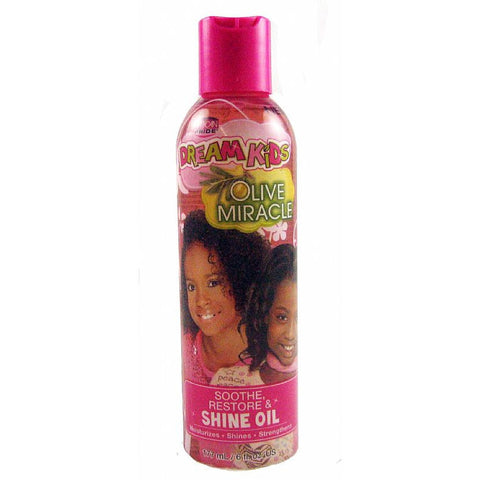 African Pride DREAM KIDS Olive Miracle Shine Oil - 6oz bottle