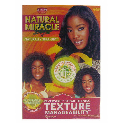 African Pride Natural Miracle Naturally Straight Texture Managability System