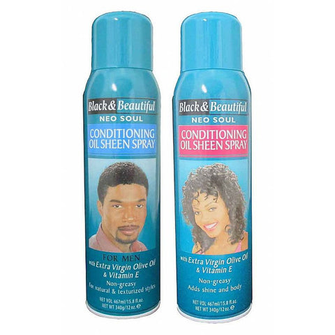 Black & Beautiful Conditioning Oil Sheen Spray - 12oz