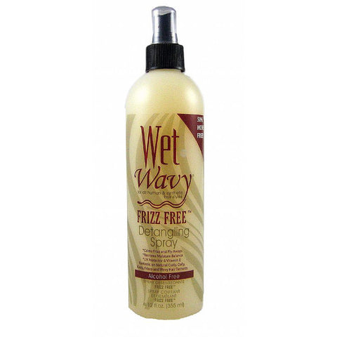 Bonfi WET-N-WAVY Frizz Free Detangling Spray - 12oz spray