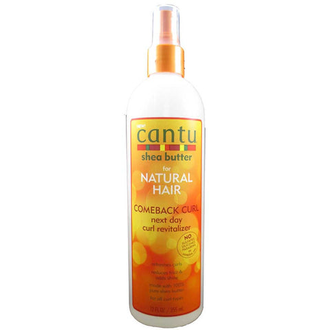 Cantu Shea Butter for Natural Hair Comeback Curl Next Day Curl Revitalizer - 12oz spray