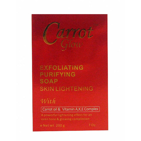 Carrot Glow Exfoliating Purifying Soap Skin Lightening - 7oz #833