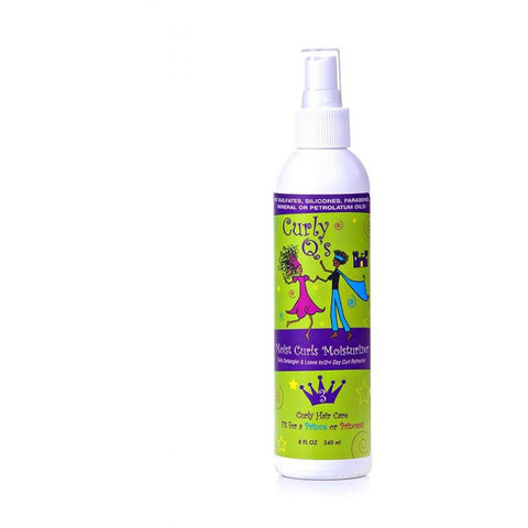 Curly Q Moist Curls - Curl Moisturizer/Detangler - 8oz Spray