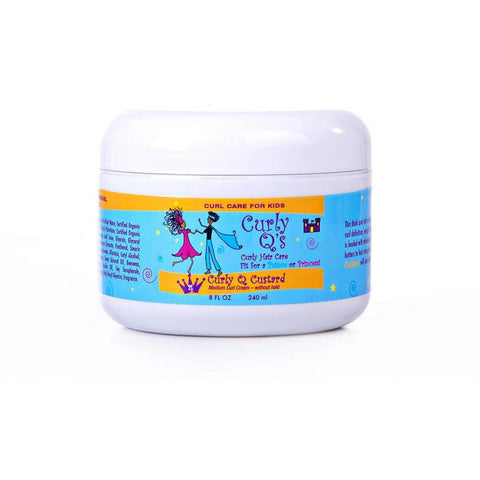 Curly Q Curly Q Custard - Curl Cream for THICK, KINKY textured curls -8oz Jar