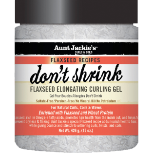Aunt Jackies Don't Shrink Flaxseed Elongating Curling Gel - 15oz jar