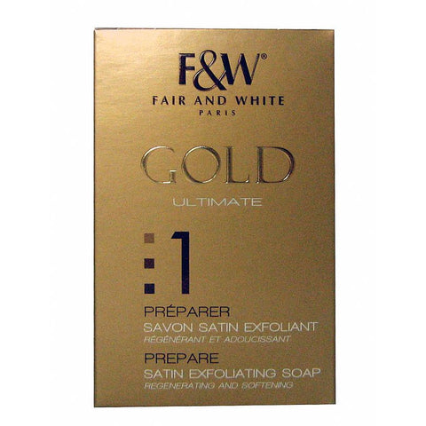 Fair and White Gold Satin Exfoliating Soap 1-Prepare #600 - 7 oz
