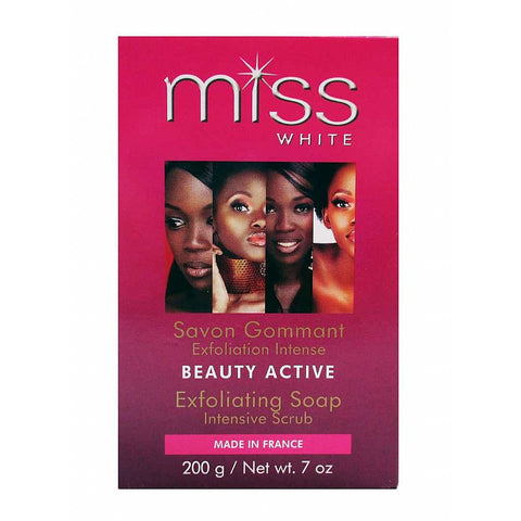 Fair and White MISS WHITE Beauty Active Exfoliating Soap - 7oz