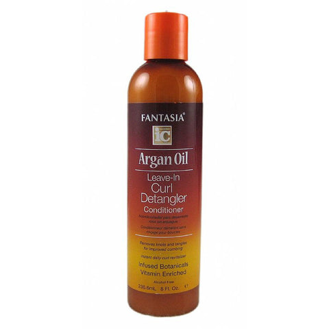 Fantasia IC Argan Oil Leave In Curl Detangler Conditioner - 8oz bottle