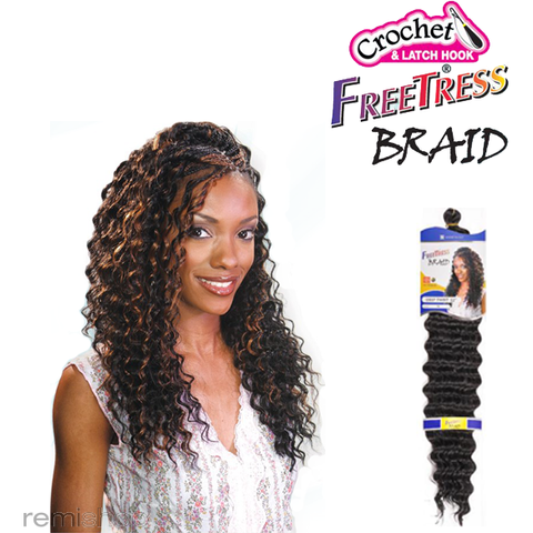 Shake-N-Go Free Tress Braid DEEP TWIST 22""